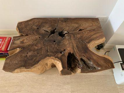 Solid team root coffee table