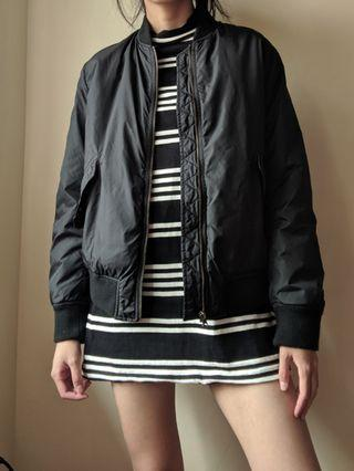 Black Uniqlo bomber