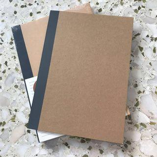 muji b5 notebook - pack of 5