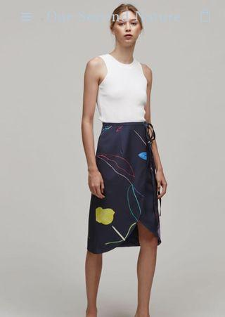 🚚 Our Second Nature Midi Wrap Skirt