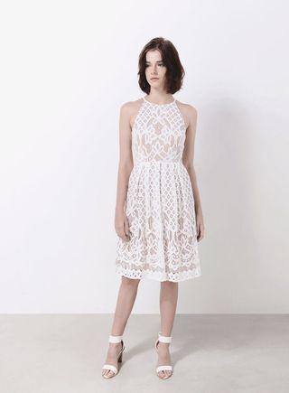 AWD bliss lace dress in white