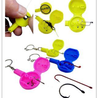🚚 3Pcs Fishing Knot Tying Multi Function Tool For Fishing Gear - Cover Hooks On Fishing Rods