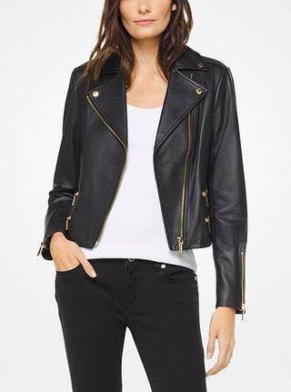 GENUINE Michael Kors 'Leather Biker Jacket'