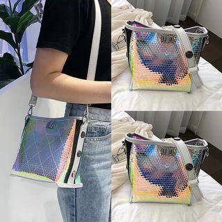 Little Sling Bag - 9R2  Size: 22*19*12cm Color: Black, Pink, White, Silver