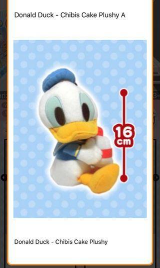 日本正版 直送香港 唐老鴨 Donald Duck 迪士尼公仔 Disney