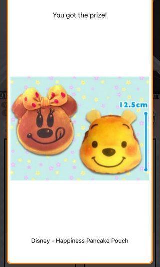 日本直送到港 Winnie the Pooh 小熊維尼 Pancake Pouch 班戟 袋