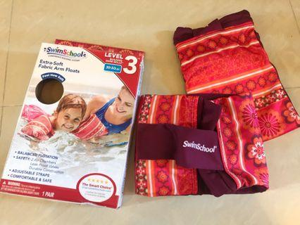 (Free postage) Swimschool extra soft arm floats (pink+red floral pattern) /  (Blue floral pattern)