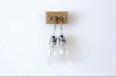 獨立品牌手工設計中性燈泡耳環
