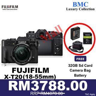 Fujifilm X-T20 / XT20 Mirrorless Digital Camera with 18-55mm Lens NEW