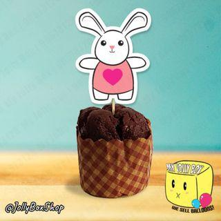 🚚 Cute Rabbit Cupcake or Muffin Topper For Muffin or Cupcake Decorations #Cupcake #PartyDecorations