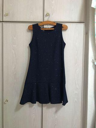 Midnight Blue Sparkling Mermaid Dress
