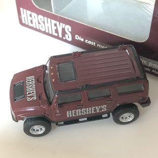 Hershey's die cast metal toy car Hummer 1:72 超合金車仔