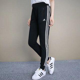 Adidas pants ESS 3-Stripes 三條線 運動長褲 棉褲 基本款 顯瘦 女款 縮口褲 BQ1113