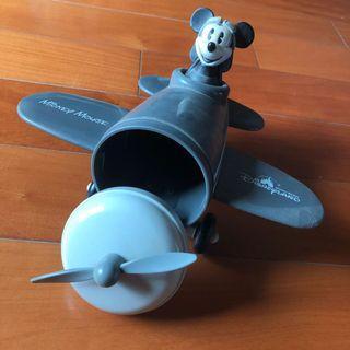 Vintage Mickey Mouse Pilot container 中古米奇老鼠飛機師儲物箱