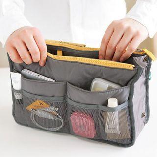 Bag Insert Travel Gray Handbag Organiser with Handles