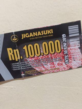 Voucher 100.000 Jiganasuki