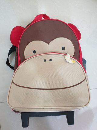 To bless skip hop zoo monkey trolley school luggage  bag