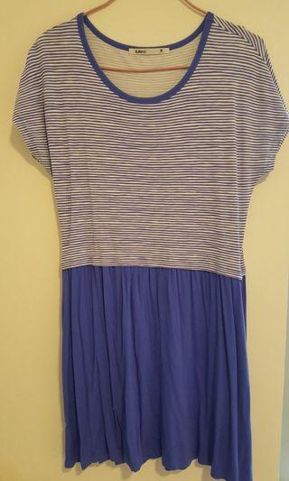 Baleno blue striped dress/ Baleno 藍色橫間連身裙