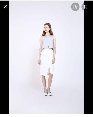 RWB Verel skirt in white