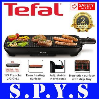 Tefal TG3918 Grill. Plancha Malage Griddle and Grill. Adjustable Thermostat. Safety Mark Approved. 2 Years Warranty. Local SG Seller.