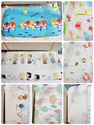 Customised Baby Crib Cot Fitted Sheet Baby premium bed cot sheet bedsheet children childcare mattress sheet bedsheet