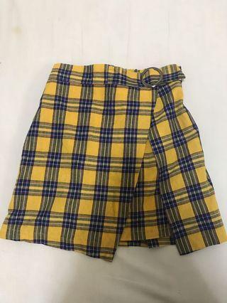 🚚 黃色格子裙