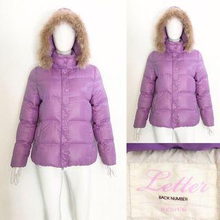 Letter purple down winter coat / jacket (jaket bulu angsa)