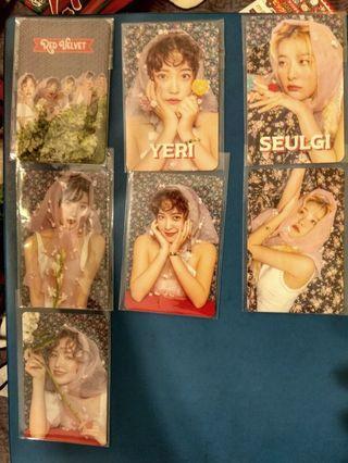 Red velvet sappy album concert photocards