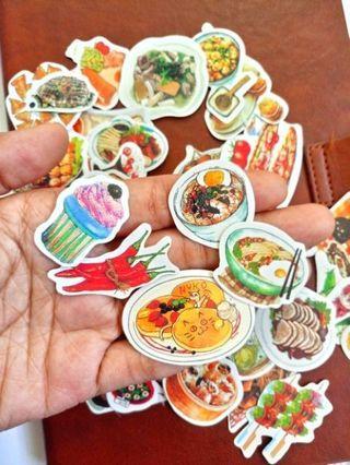 40pcs lot/ Food Yummy platter Deco Stickers DIY journal Diaries Stationery Sticker Flakes