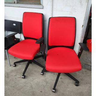 Red Office Chairs for sale (2 PCs) @$20 each
