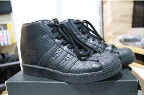 Jual sepatu adidas superstar up wedge black