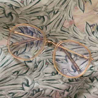 Kacamata tranparan (gold)