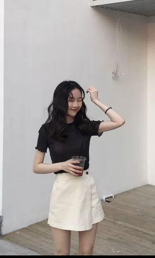 米白色半身裙