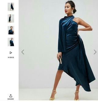 Asymmetry velvet high low dress (Asos)