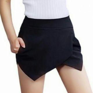 Korean Lovely Black/Blue/Pink Origami Skorts Shorts With Functional Side Pockets