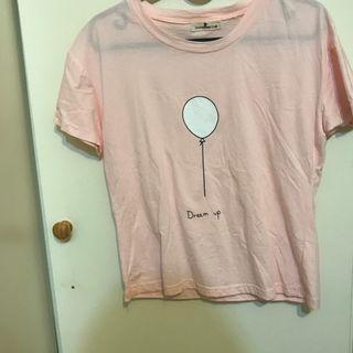 粉紅 氣球T