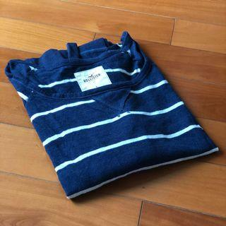 Hollister navy and white striped top *** 只限順豐到付不設面交 SF delivery paid by receiver only ***