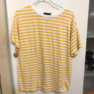 黃色條紋T
