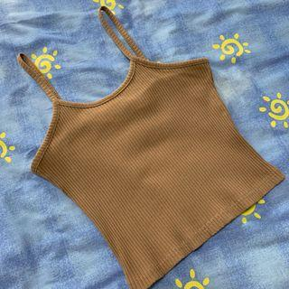 🚚 Brown Camisole Cropped Top
