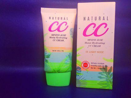 Miniso CC Cream Aloe Moist Hydrating Shade 01 Light Nude