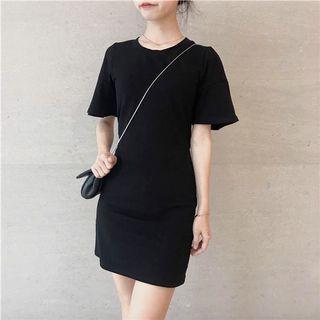 Slim fit black elegant dress