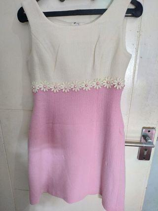 Mididress pink-white
