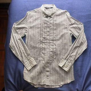 Neil Barrett reconstructed tuxedo shirt check size 40