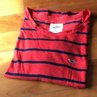 Hollister orange and navy striped pocket top *** 只限順豐到付不設面交 SF delivery paid by receiver only ***