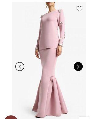 (RENT) Kree Zaitun Kurung Modern in Pink