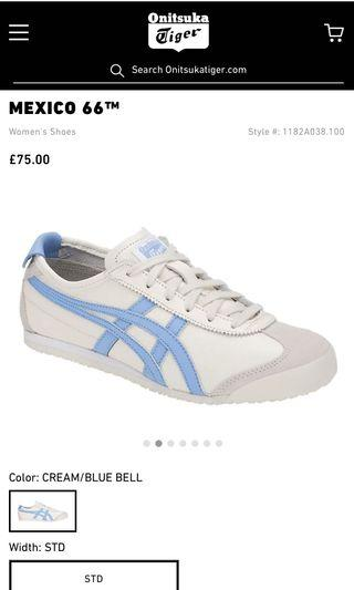 Onitsuka Tiger Cream/ Bluebell sneakers