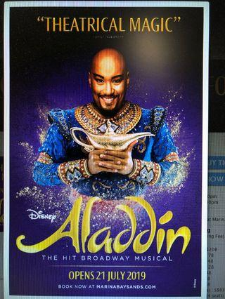 Aladdin musical VIP Reserve tickets