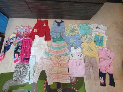 Various girls clothes (mostly mothercare, gingersnap, hnm)