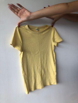 🚚 Yellow Uniqlo Top size S