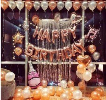 Happy birthday balloon set